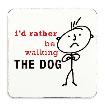Ik liever de hond Onderzetter kurk gesteund lopen zou voor mannen
