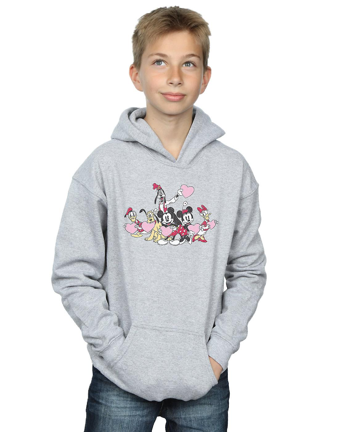 Disney Boys Mickey Mouse Love Friends Hoodie