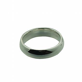 Платиновый 6 мм обычного суда обручальное кольцо размер Z