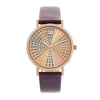 Crayo Fortune Unisex Watch - Rose Gold/Plum