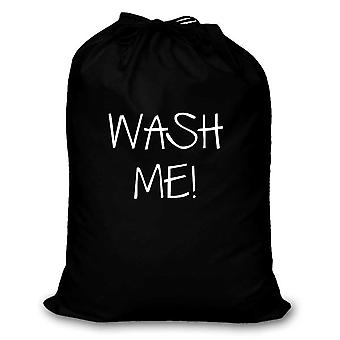 Black Laundry Bag Wash Me