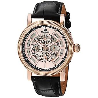 Burgmeister-rose gold men's watch with leather bracelet and BM 221-362, analog Display, color: black