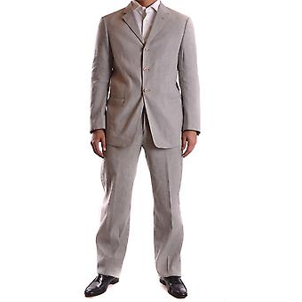 Armani Collezioni Ezbc049105 Men's Grey Cotton Suit