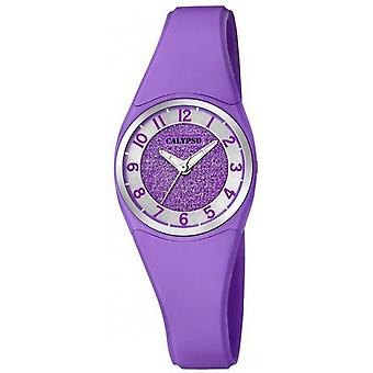 Calypso K5752-4 watch - watch armband Silicone paars vrouw paarse aluminium behuizing