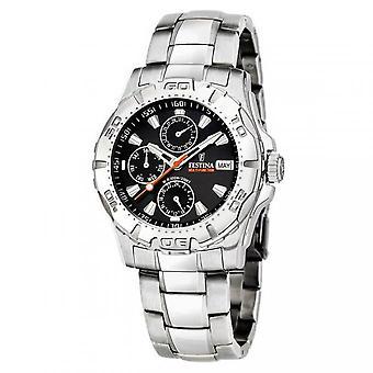 Festina Multifunktions F16242-9 - Mann aus Stahl-Uhr