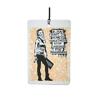Banksy Stop Asking Car Air Freshener