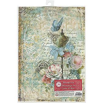 Stamperia Rice Paper A4 Mannequin & Butterflies (DFSA4243)