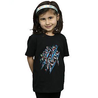 Marvel Girls Avengers Endgame Logo Team T-Shirt