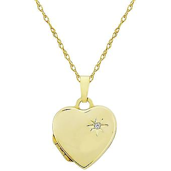 Mark Milton Diamond Heart Locket - Yellow Gold