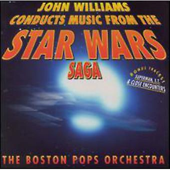 John Williams - John Williams gjennomfører musikk fra the Star Wars-sagaen [DVD] USA import