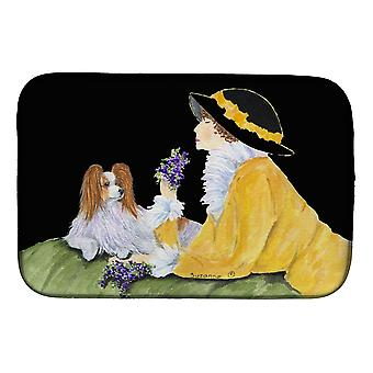 Carolines Treasures  SS8633DDM Papillon Dish Drying Mat