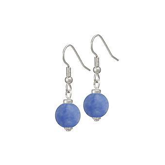 Eternal Collection Hacienda Cornflower Blue Jade Drop Pierced Earrings