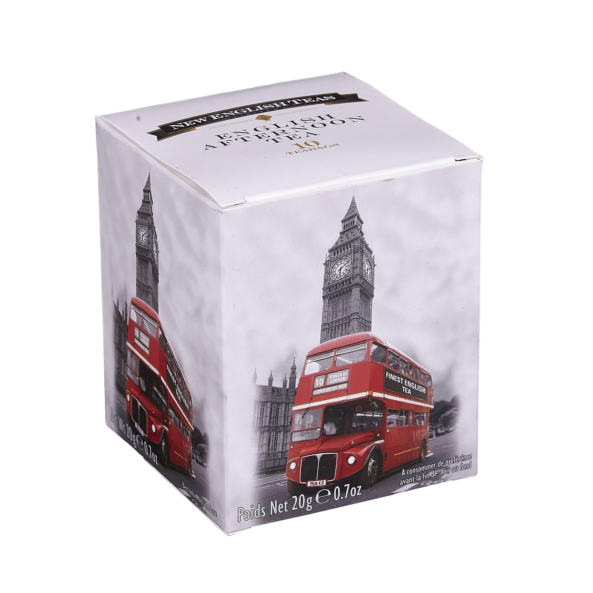 Black and white red london bus english afternoon tea 10 teabag carton