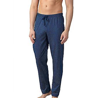 Mey 21460-664 Men's Lounge Neptune Blue Tile Print Cotton Pajama Pyjama Pant