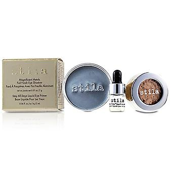 Stila Magnificent Metals Foil Finish Eye Shadow With Mini Stay All Day Liquid Eye Primer - Metallic Kitten 2pcs