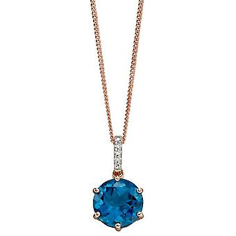 Elements Gold Topaz Pendant - Blue/Silver/Rose Gold