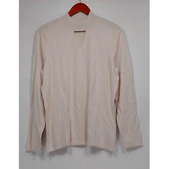 Dennis Basso mulheres ' s camisola Peek-a-Boo V-pescoço branco A299642
