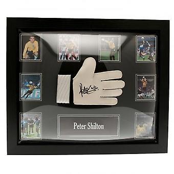 England FA Shilton signert hanske (ramme)