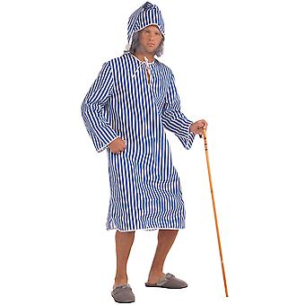 Scrooge ' s noite antes do Natal Carol nightshirt & Cap Men costume STD