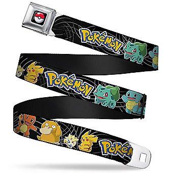 Seatbelt Belt - Pokemon - V.119 Adj 24-38' Mesh New pka-wpk037