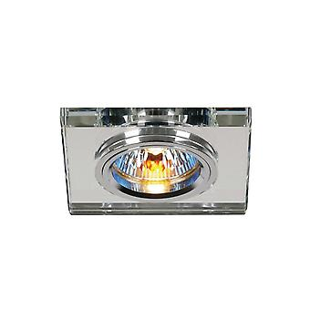 Diyas Crystal Downlight Shallow Square Rim Only Clear, IL30800 Required To Complete The Item