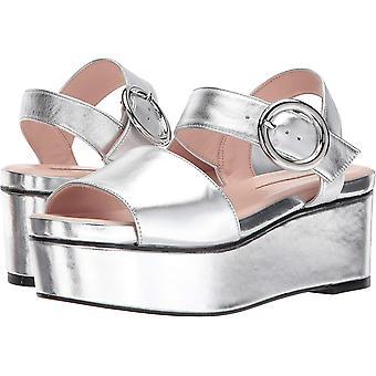 Avec Les Filles Womens AUDRA Suede Peep To e to casual Platform Sandals