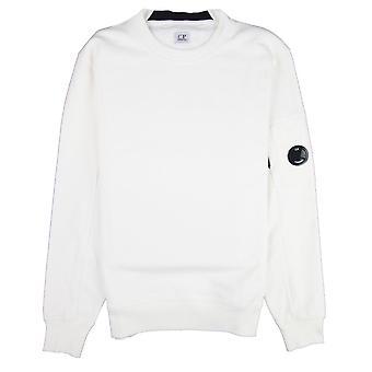 CP bedrijf diagonaal verhoogd fleece lens bemanning Sweatshirt gebroken wit 103