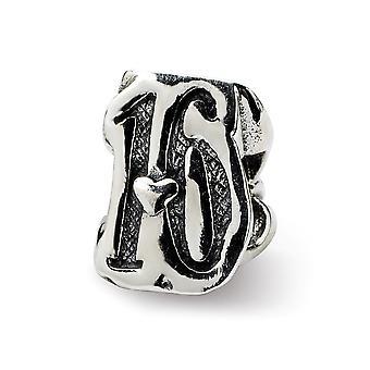 925 Sterling Silber Finish Reflexionen süß 16 Perle Anhänger Anhänger Halskette Schmuck Geschenke für Frauen