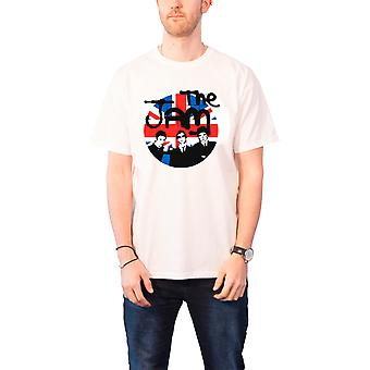 The Jam Union Jack Circle Official Mens New White T Shirt