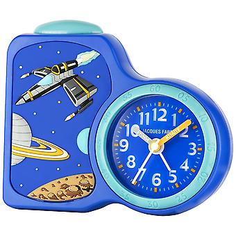 JACQUES FAREL Children's Alarm Clock Wekker analoge Quartz Weaeus Boys ACB 08SPA blauw