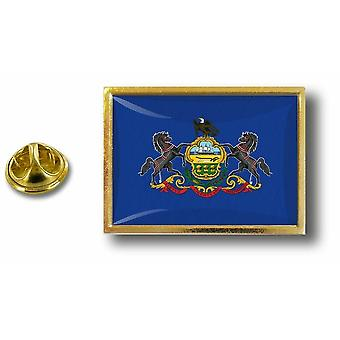 Pins Pin Badge Pin's Metal  Pince Papillon Drapeau Etats USA Pennsylvanie