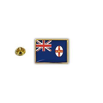 Pine PineS PIN rinta nappi PIN-apos; s metalli epoksi Flag Australia Uusi Etelä-Wales