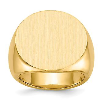 14 k geel gouden Engravable Mens Signet Ring - 35.6 gram - Size 10