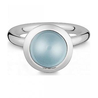 Quinn - Silver ring with blue topas - 021839658
