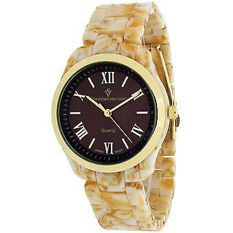 Christian Van Sant Women's Granite Brown Dial Watch - CV3412