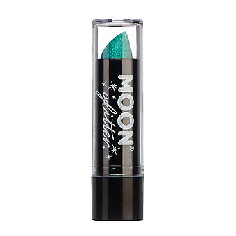 Iridescent Glitter Lipstick by Moon Glitter - 5g - Green