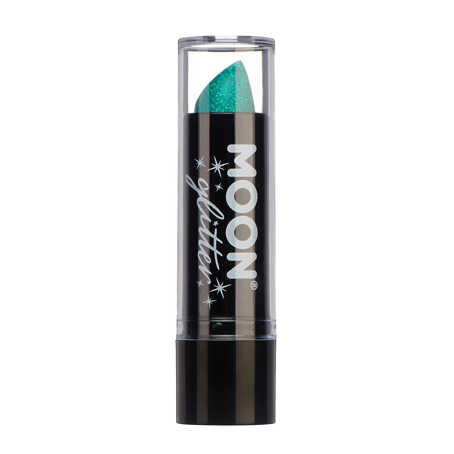 Iridescent Glitter Lipstick by Moon Glitter - 5g - Green