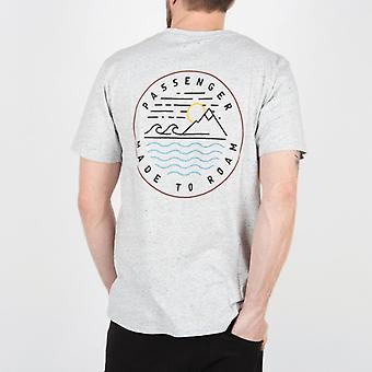 Passenger lofoten t-shirt - flecked grey marl