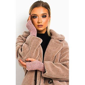 IKRUSH Womens Chlo Knitted Fingerless Gloves