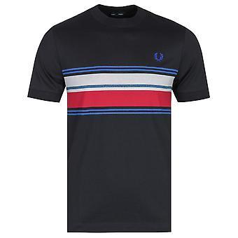 T-shirt noir Fred Perry Marl Stripe