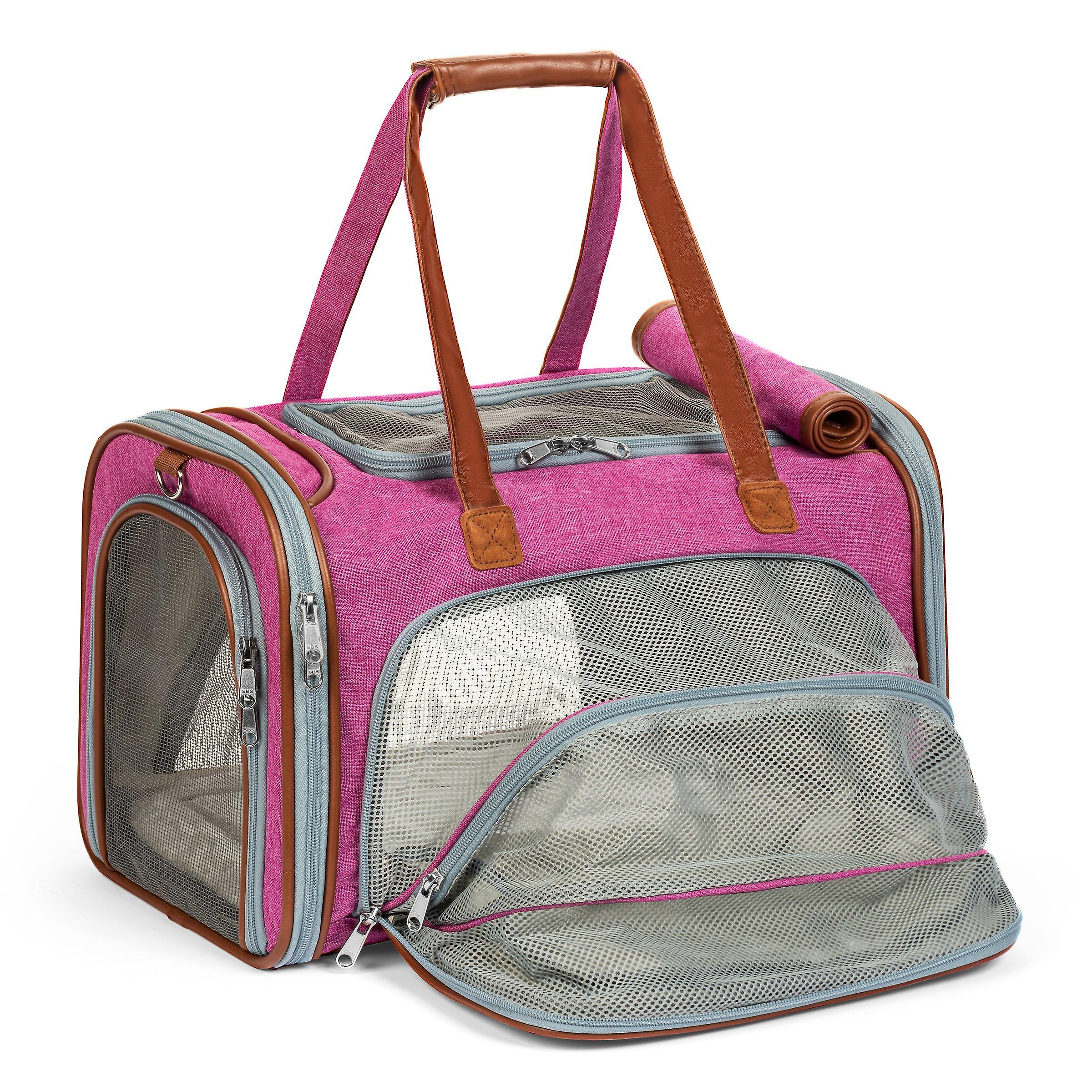 Gold series expandable airline approved tote - low profile, soft sided premium pet carrier