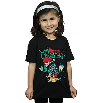 Disney Girls Princess Ariel Merry Christmas T-Shirt