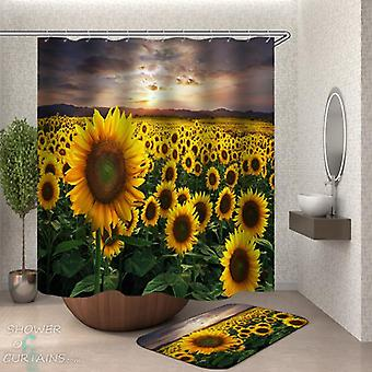 Fresh Sunflower Field Shower Curtain