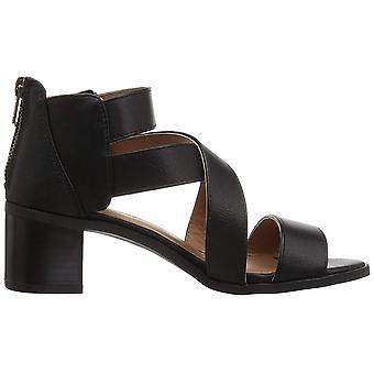 Rampage Women's Havarti Heeled Sandal, Black Smooth, 5 M US