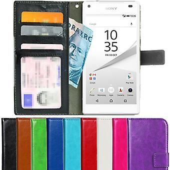 Wallet Case Sony Xperia Z5 compact ID Pocket + polsband