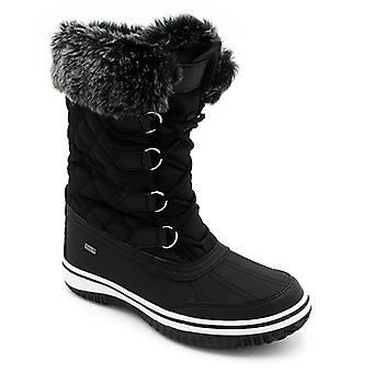 Padders Glaze Ladies Textile Wide (e Fit) Waterproof Boots Black