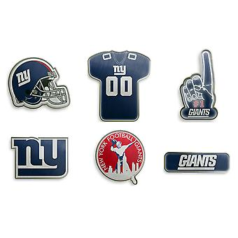 New York Giants NFL PIN Badge PIN sett av 6
