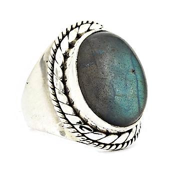 Ring 925 Silber mit Labradorit 52 mm / Ø 16.6 mm (KLE-RI-064-05-(52))