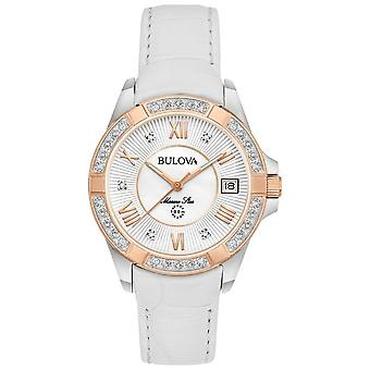 Scarpe donna Bulova Marine Star Diamond bianco 98R233 Watch