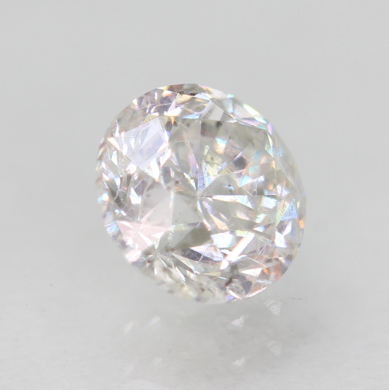 Certified 0.81 Carat E VS2 Round Brilliant Enhanced Natural Loose Diamond 5.67mm